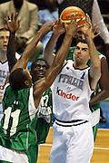 SAPPORO 22 AGOSTO 2006 <br /> BASKET CAMPIONATO MONDIALE 2006 <br /> ITALIA-SENEGAL<br /> NELLA FOTO: SORAGNA <br /> FOTO: CIAMILLO-LAPRESSE