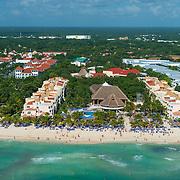 Aerial view of the Viva Wyndham Maya on Playaacar. Playa del Carmen. Mexico