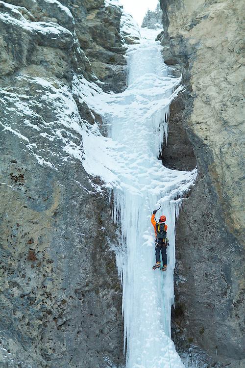 Ice Climbing Professor Falls