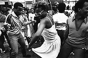 Couple dancing, Notting Hill Carnival, London, UK, 1983