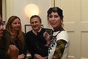 Valeria and Gregorio Napoleone and Joe Scotland host a dinner at therir home in Kensington  in celebration of Sol  Calero's commission at Studio Voltaire.  London. 13 October 2015
