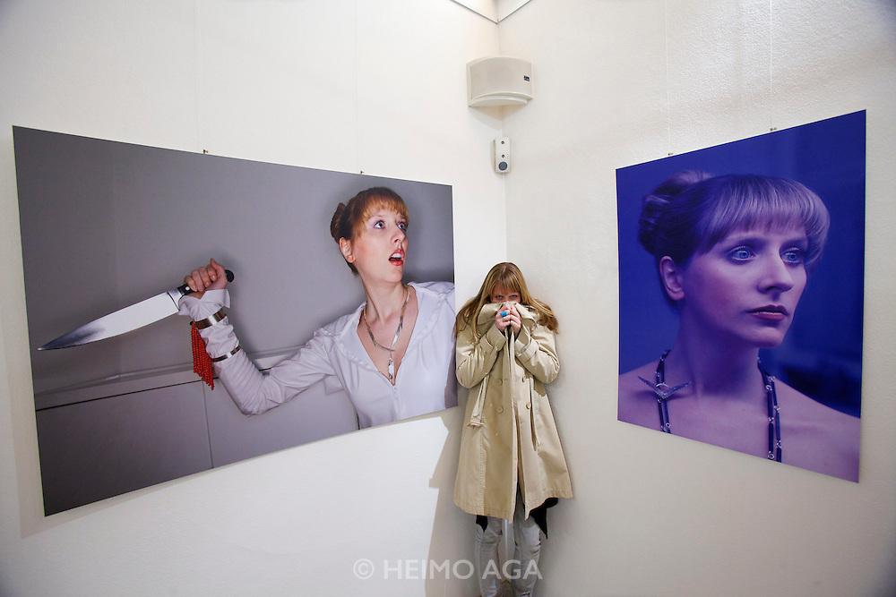 "Opening of the exhibition ""Brautschau"" with bridal jewelry by designer Hermine Pruegger, Marimekko textiles arranged by Susanna Ahvonen and photographs by Heimo Aga."