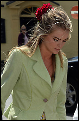 Cressida Bonas arrives for the weeding of Rupert Finch and Lady Natasha Rufus Isaacs, The Church of St. John the Baptist, Cirencester, United Kingdom<br /> Saturday, 8th June 2013<br /> Picture by Andrew Parsons / i-Images<br /> File photo - Prince Harry has split from his girlfriend Cressida Bonas.<br /> Photo filed Wednesday 30 April 2014.