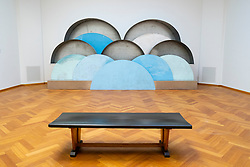 Sculpture Clouds and Caverns bu Louise Bourgeois at the Gemeentemuseum in The Hague, Den Haag, The Netherlands