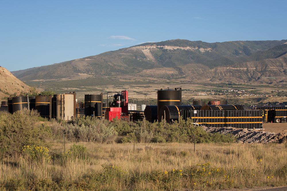 Fracking industry site in Parachute, Colorado in Garfield County.
