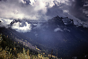 Autumn, Fall, Sunlight, Clouds, Glacier National Park, Montana