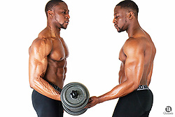 April 10, 2017 - MEET the super-muscly bodybuilding identical twins who went from a lean and scrawny duo to a super-buff and muscular double act after wanting a change in their lives. Growing up, operations manager Ty and financial analyst Kenni Ayoshola (both 24) from London, UK, described themselves as thin twins who were very involved in sports but never had the muscles to go with their active and sporty lifestyle and passion. The identical twins once weighed sixty-nine kilograms, but following a decision to switch things up in their lives and change their physical appearance, they joined the gym and started going religiously, gaining ten kilograms, and bulking up to eighty kilograms. Incredible pictures and video show Ty and Kenni's rippling muscles and Adonis-like body, as well as both twins vigorously working out their chiselled abs at the gym. TA Visuals/ mediadrumworld.com (Credit Image: © Ta Visuals/mediadrumworld.com via ZUMA Press)