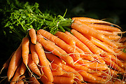 Organic Carrots at a Farmers Market in Newcastle, Australia