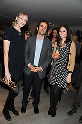 Left to right, JADE PARFITT, MATTHEW HERMER and SOPHIE ELLIS-BEXTOR at a party to launch Senkai - London's first modern Japanese-inspired restaurant at 65 Regent Street, London on 26th October 2011.