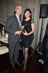 GERARD HILL and RONNI ANCONA at a dinner hosted by AA Gill & Nicola Formby in support of the Borne charity held at Rivea at the Bulgari Hotel, Knightsbridge, London on 3rd February 2015.