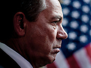 Jan 19, 2011 - Washington, District of Columbia, U.S. - Speaker of the House JOHN BOEHNER (R-OH) during a press conference on Wednesday about the Republican's plans to repeal the Affordable Care Act passed last year..(Credit Image: © Pete Marovich/ZUMA Press)