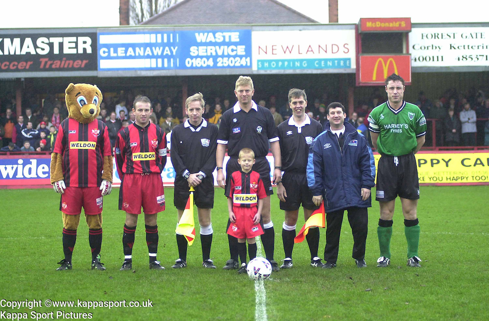MASCOT WITH LINE UP BEFORE KICK OFF, Kettering Town v Northwich Victoria, Rockingham Road, 11th November 2000