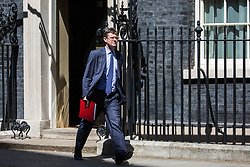 London, UK. 21 May, 2019. Greg Clark MP, Secretary of State for Business, Energy and Industrial Strategy, leaves 10 Downing Street following a Cabinet meeting.