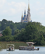 June 15, 2016 - Lake Buena Vista, FL, USA - In the shadow of the Magic Kingdom, Florida Fish and Wildlife Conservation Officers search for a young boy Wednesday, June 15, 2016 after the boy was grabbed Tuesday night by an alligator at Grand Floridian Resort at Disney World near Lake Buena Vista, Fla.<br /> ©Exclusivepix Media