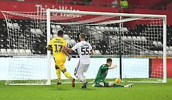 Alex Jakubiak of Bristol Rovers scores. - Mandatory by-line: Alex James/JMP - 05/12/2018 - FOOTBALL - Liberty Stadium - Swansea, England - Swansea City U21 v Bristol Rovers - Checkatrade Trophy