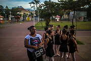 Daiana    the coordinator of Manguinhos community ballet  outside the Biblioteca Parque in Manguinhos neighbourhood in Rio de Janeiro, Brazil, Monday, June 11, 2018.  The Manguinhos community ballet has been a reprieve from the violence and poverty that afflicts its namesake neighborhood for hundreds of girls who have benefitted from free dance classes since 2012. (Dado Galdieri for The New York Times)