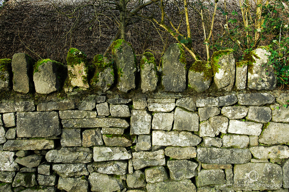 Flag stone wall, Bunratty, County Clare, Ireland.