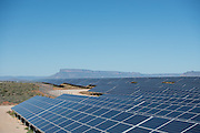 View over rows of solar panels for the Solar Park