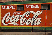 Old Coca-Cola sign in historic Hendersonville, NC