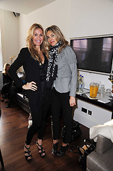Left to right, MELISSA ODABASH and KIM HERSOV at a breakfast hosted by Bobbi Brown - the cosmetics company held at Morton's, 28 Berkeley Square, London on 8th December 2009.