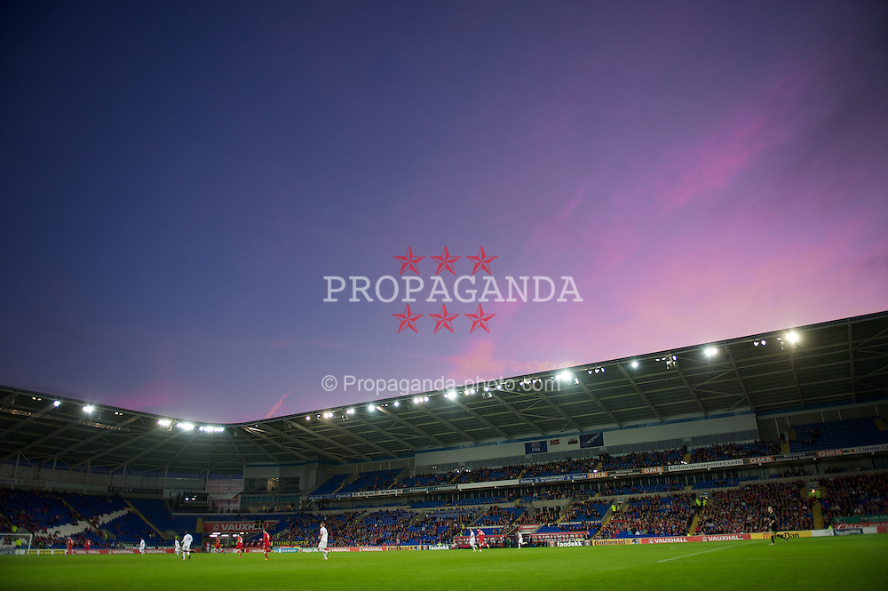 CARDIFF, WALES - Saturday, November 12, 2011: Wales take on Norway during the international friendly match at the Cardiff City Stadium. (Pic by David Rawcliffe/Propaganda)