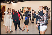 GEORGINA COHEN; JULIAN SCHNABEL; ADE; CLAIRE CAUDWELL, JONATHAN KRON, BIP LING, Frank Cohen and Nicolai Frahm host Julian Schnabel's 'Every Angel has a Dark Side,' private view and party. IN AID OF CHICKENSHED. Dairy Art Centre, 7a Wakefield Street, London. 24 APRIL 2014