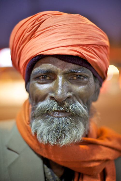 Indian man street portrait.<br />