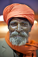 Indian man street portrait.