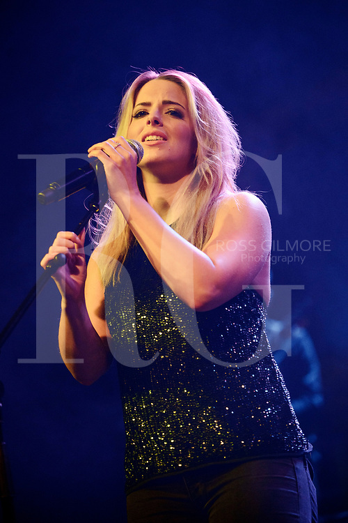 Crissie Rhodes of The Shires perform at O2 ABC Glasgow on December 7, 2016 in Glasgow, Scotland. (Photo by Ross Gilmore