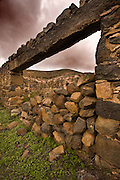 Lanzarote volcanic  Canary Island , Spain on Atlantic Ocean in January Photo Piotr Gesicki Interior of Fuerteventura volcanic  Canary Island , Spain on Atlantic Ocean in January Old Farm building ruins made of volcanic rock
