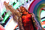 Wayne Coyne of the band The Flaming Lips performs during the Silopanna Music Festival at the Anne Arundel County Fairgrounds in Crownsville, MD on Saturday, August 16, 2014.
