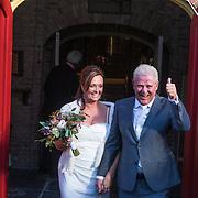 NLD/Laren/20130103 - Huwelijk Laura Ruiters, bruid Laura Ruiters en partner