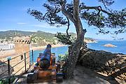 Vila Vella enceinte, Tossa De Mar, Costa Brava, Spain
