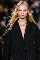 Frederikke Sofie walks the runway wearing Jason Wu Fall 2016, Hair by Paul Hanlon for Morocconoil, Makeup by Yadim for Maybelline, shot by Thomas Concordia during New York Fashion Week on February 12, 2016