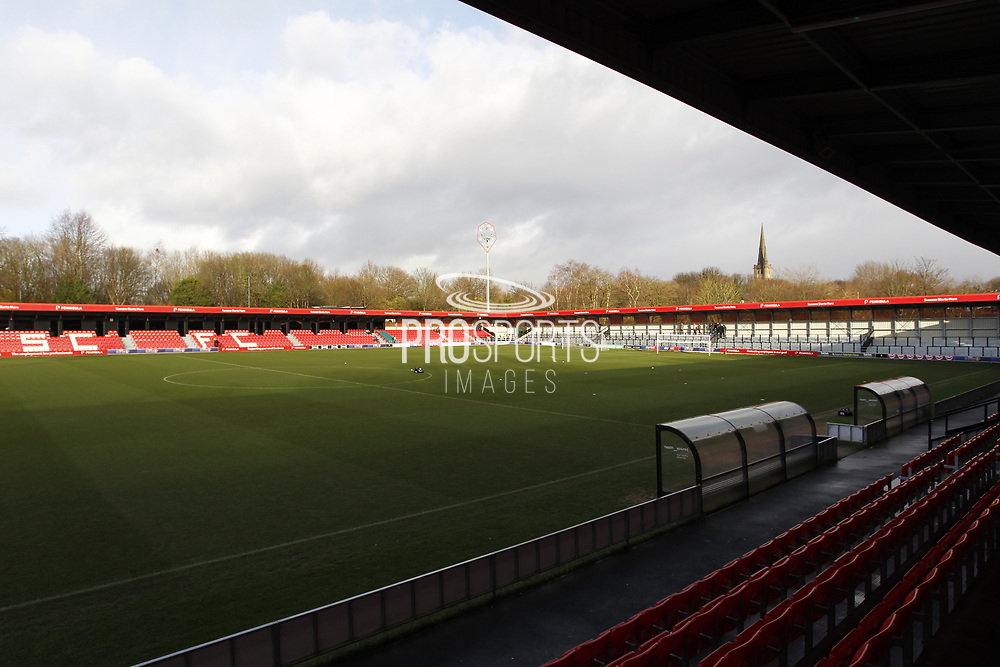 General view of Peninsula Stadium before the EFL Sky Bet League 2 match between Salford City and Exeter City at the Peninsula Stadium, Salford, United Kingdom on 14 December 2019.