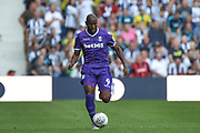 Stoke City striker (on loan from Wolverhampton Wanderers) Benik Afobe (9) sprints forward with the ball during the EFL Sky Bet Championship match between West Bromwich Albion and Stoke City at The Hawthorns, West Bromwich, England on 1 September 2018.