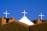 Crosses on San Geronimo Chapel, Taos Pueblo, New Mexico