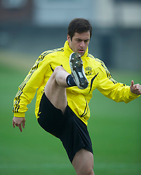 LIVERPOOL, ENGLAND, Wednesday, March 16, 2011: Liverpool's Joe Cole during a training session at the club's Melwood Training Ground ahead of the UEFA Europa League Round of 16 2nd leg match against Sporting Clube de Braga. (Photo by David Rawcliffe/Propaganda)