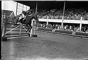 "09/08/1962<br /> 08/09/1962<br /> 09 August 1961<br /> RDS Horse Show, Ballsbridge Dublin, Thursday. <br /> Picture shows ""Franco"" of Great Britain ridden by David Barker."