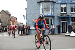Lisa Brennauer (GER) of WNT Rotor Pro Cycling rides through Rhayader on Stage 5 of 2019 OVO Women's Tour, a 140 km road race from Llandrindod Wells to Builth Wells, United Kingdom on June 14, 2019. Photo by Balint Hamvas/velofocus.com