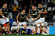 Vaea Fifita of Wellington looks for options during the Mitre 10 Competition match between Otago and Wellington at Forsyth Barr Stadium on August 25, 2016 in Dunedin, New Zealand. Credit: Joe Allison / www.Photosport.nz