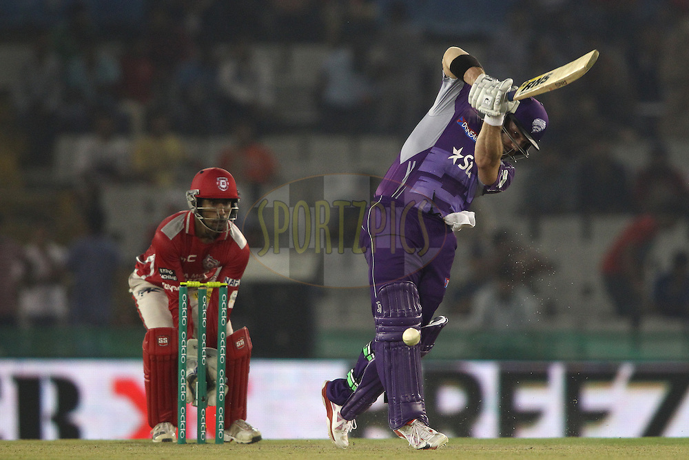 Travis Birt of the Hobart Hurricanes plays a delivery through the leg side during match 2 of the Oppo Champions League Twenty20 between the Kings XI Punjab and the Hobart Hurricanes held at the Punjab Cricket Association Stadium, Mohali, India on the 18th September 2014<br /> <br /> Photo by:  Shaun Roy / Sportzpics/ CLT20<br /> <br /> <br /> Image use is subject to the terms and conditions as laid out by the BCCI/ CLT20.  The terms and conditions can be downloaded here:<br /> <br /> http://sportzpics.photoshelter.com/gallery/CLT20-Image-Terms-and-Conditions-2014/G0000IfNJn535VPU/C0000QhhKadWcjYs
