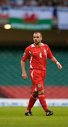 CARDIFF, WALES - Saturday, October 11, 2008: Wales' Carl Fletcher during the 2010 FIFA World Cup South Africa Qualifying Group 4 match against Liechtenstein at the Millennium Stadium. (Photo by David Rawcliffe/Propaganda)