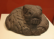 Aztec stone sculpture of the God Quetzalcoatl. Mesoamerican deity whose name comes from the Nahuatl language and has the meaning of 'feathered serpent' 15th-16th Century Mexican
