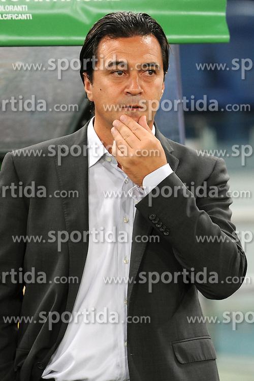 28.08.2010, Stadio Olimpico, Rom, ITA, Serie A, AS Rom vs Cesena, im Bild Massimo FICCADENTI., Cesena Trainer, EXPA Pictures © 2010, PhotoCredit: EXPA/ InsideFoto/ Andrea Staccioli *** ATTENTION *** FOR AUSTRIA AND SLOVENIA USE ONLY! / SPORTIDA PHOTO AGENCY