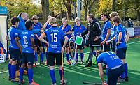 BLOEMENDAAL - Breda coach Roland de Korte (l) met assistent coach Gijs Weenink van Breda, tijdens de  competitiewedstrijd hockey jongens B , Bloemendaal JB1-Breda JB1 (3-2)  , COPYRIGHT KOEN SUYK
