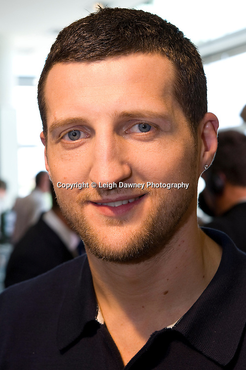 Friday 1st July 2011. Carl Froch pictured at the David Haye & Wladimir Klitschko Official Weigh In, Hamburg before for the WBA, WBO & IBF Heavyweight Title. Photo credit: Leigh Dawney 2011