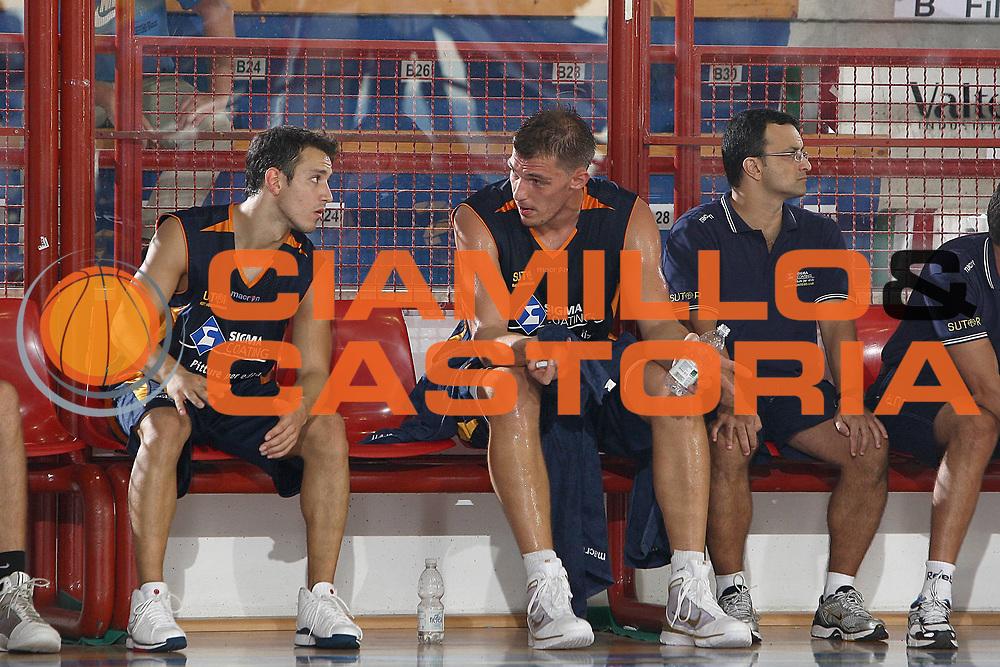 DESCRIZIONE : Porto San Giorgio Lega A 2009-10 Amichevole Sigma Coatings Montegranaro Prima Veroli<br /> GIOCATORE : Antonio Maestranzi Luca Lechthaler<br /> SQUADRA : Sigma Coatings Montegranaro<br /> EVENTO : Campionato Lega A 2009-2010<br /> GARA : Sigma Coatings Montegranaro Prima Veroli<br /> DATA : 05/09/2009<br /> CATEGORIA : <br /> SPORT : Pallacanestro<br /> AUTORE : Agenzia Ciamillo-Castoria/C.De Massis