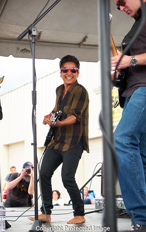 Vicci Martinez performing at Art on the Ave in Tacoma, WA, Sunday, July 10, 2016. (Photo/John Froschauer)