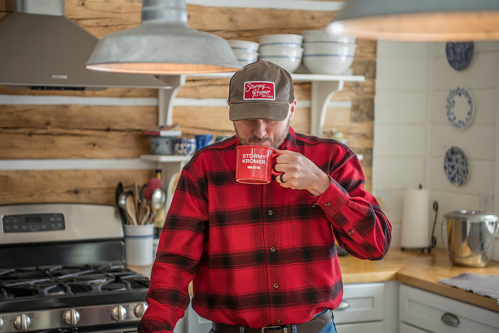 Coffee time, for Stormy Kromer.